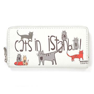 Picture of BiggDesign Cats İn Istanbul Cüzdan Mavi