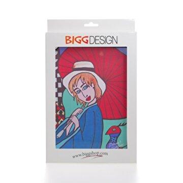 Picture of Biggdesign iPad Beyaz Kapak Şemsiyeli Kız