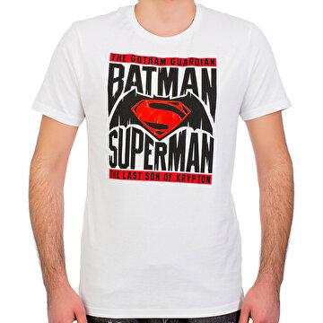 Picture of Batman v Superman Beyaz Erkek T-Shirt