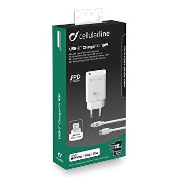 Picture of Cellularline Type-C Iphone 11 Serisi Hızlı Şarj Cihazı Seti 18w