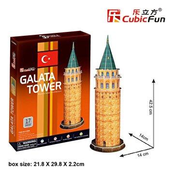 Picture of Cubic Fun 3D 17 Parça Puzzle Galata Kulesi