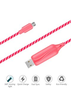 Picture of Doppler S-Cable Micro USB Işıklı, Pembe