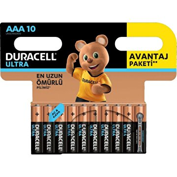 Picture of Duracell Ultra İnce Kalem Pil 10'lu AAA
