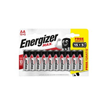 Picture of Energizer Max Alkaline AA 15+5 Pil