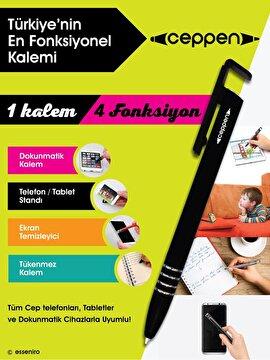 Picture of Ceppen Metalik Gri Çok Fonksiyonlu Cep Telefonu & Tablet Kalemi