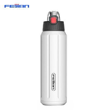 Picture of Feijian FS-045-05A 450 ml Beyaz Çelik Termos