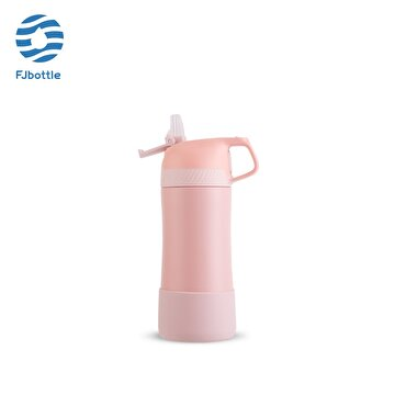 Picture of Feijian FS-040-17A-01 400 ml Pembe Pipetli Çelik Termos