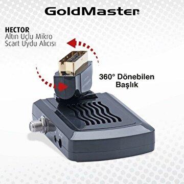 Picture of Goldmaster Hector Mini Altın Uçlu Scart Uydu Alıcısı