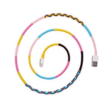 Picture of Hippi Serenity Lightning Yüksek Hızlı El Örgüsü 1 Metre Şarj ve Data Kablosu