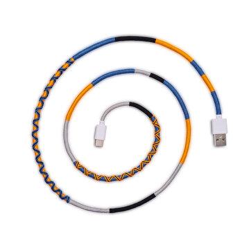 Picture of Hippi Hope Type -C Yüksek Hızlı El Örgüsü 1 Metre Şarj ve Data Kablosu
