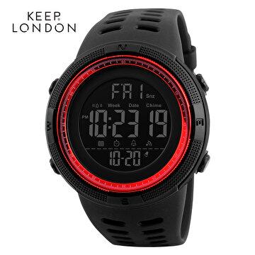 Picture of Keep London Unisex Dijital Japon Makine Saat Kırmızı
