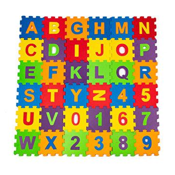Picture of Matrax Eva Puzzle|12x12cm.X 7 Mm.| Harfler Ve Sayılar