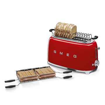 Picture of Smeg Paslanmaz Çelik Ateş Kırmızı 2x2 Ekmek Kızartma Makinesi