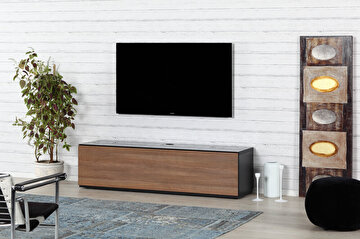 Picture of Sonorous STA 160F-BLK-WNT-BS Tv Ünitesi Siyah - Ceviz