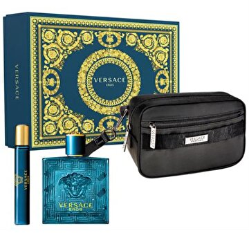Picture of Versace Eros EDT Erkek Parfüm Set (100 ML + 10 ML + POUCH)