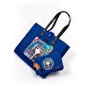 BiggDesign Mavi Su Keçe  Omuz ve El Çantası. ürün görseli