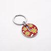 Nektar G08083 Çiçekli Yuvarlak Anahtarlık Kırmızı. ürün görseli