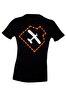 THK Design Uçak Baskılı Siyah T-Shirt. ürün görseli