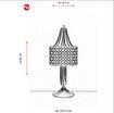 Avonni Ml-1381-Ey25 Eskitme Kaplama Masa Lambası. ürün görseli