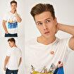 Biggdesign Mr. Allright Man Beyaz Erkek T-Shirt. ürün görseli