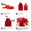 BiggDesign Cats Bordo Peluş Sıcak Su Torbası. ürün görseli