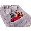 Biggdesign Cats Gri Peluş Sıcak Su Torbası. ürün görseli