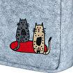 Biggdesign Cats Keçe Notebook Çantası. ürün görseli