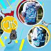 Biggdesign Cats Mavi Sırt Çantası. ürün görseli