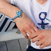 Anemoss Gemici Düğümü Tasarımlı Gümüş Kaplama Erkek Bileklik. ürün görseli