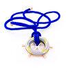 Anemoss Mavi Dümen Tasarımlı Bronz Kolye. ürün görseli