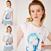 Anemoss Fenerci Kız Beyaz Kadın T-Shirt. ürün görseli