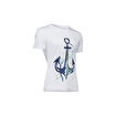 Biggdesign AnemosS Çapa Beyaz Erkek T-Shirt. ürün görseli