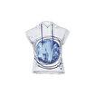 Anemoss Rota Desenli Kolsuz Kapişonlu Beyaz Kadın Sweatshirt. ürün görseli