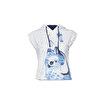 Anemoss Çipura Kolsuz Kapişonlu Beyaz Kadın Sweatshirt. ürün görseli