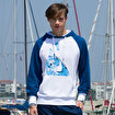 Anemoss Çipura Desenli Beyaz Erkek Sweatshirt. ürün görseli