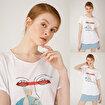 Biggdesign Faces FashionAddict Kadın T-Shirt. ürün görseli