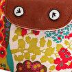 Biggfashion Çiçek Desenli Katlanabilir Çanta. ürün görseli