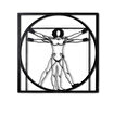 Bystag BYSM-117 Da Vinci Man Metal Duvar Dekoru. ürün görseli