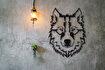 Bystag BYSM-168 Wolf Metal Duvar Dekoru. ürün görseli
