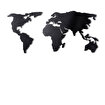 Bystag BYSM-182 World Map Silhouette XL Black Metal Duvar Dekoru. ürün görseli