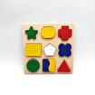 Keep London Kids Ahşap 9 Parça El-Göz-Koordinasyon Eğitici Geometrik Şekiller. ürün görseli