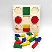 Keep London Kids Ahşap 18 Parça El-Göz-Koordinasyon Eğitici Geometrik Şekiller. ürün görseli