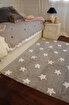 Lorena Canals  Stars Gri Beyaz Çocuk Halısı 120x160cm. ürün görseli