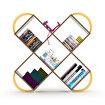 Rafevi Case Kitaplık Ceviz-Sarı. ürün görseli
