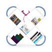 Rafevi Case Kitaplık Beyaz-Mavi. ürün görseli