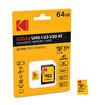 Kodak Mikro SD 64GB UHS-I U3 Ultra Performans Hafıza Kartı. ürün görseli