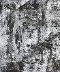Koza Pera Siyah Krem Akrilik Halı 45657A,200 x 290. ürün görseli