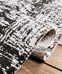 Koza Pera Siyah Krem Akrilik Halı 45657A,100 x 200. ürün görseli