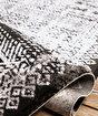 Koza Pera Siyah Krem Akrilik Halı 45686A,80 x 300. ürün görseli