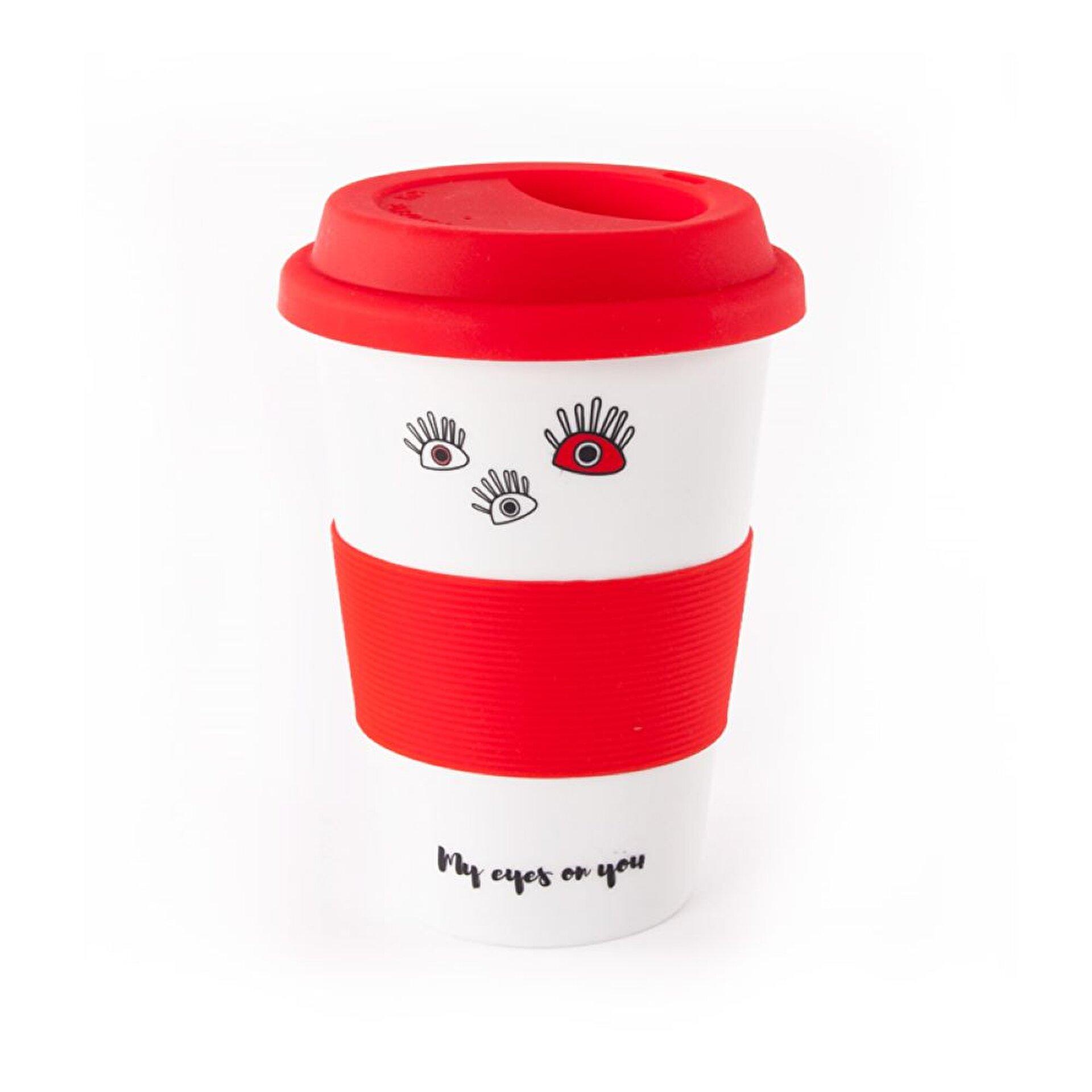 Picture of Biggdesign Gözüm Sende Kapaklı Kırmızı Seramik Mug